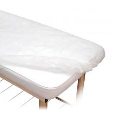 Weiße Stoff-Spannbetttücher...
