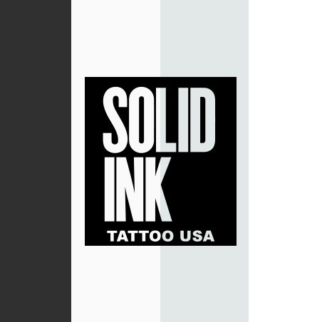 SOLID INK WHITE AND BLACK